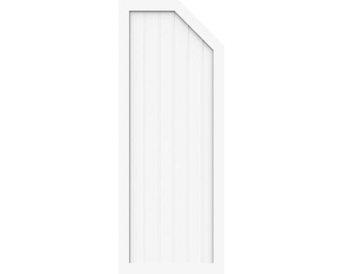 Élément d''extrémité BasicLine type E à droite 70x180/150 cm, blanc