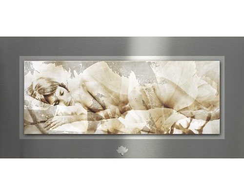 Tableau en métal Passion III 50x100 cm