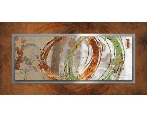 Tableau en métal Circle rouille 50x100 cm