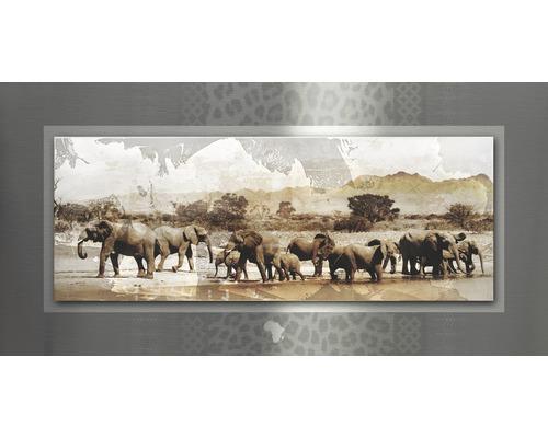 Tableau en métal Wild Life 50x100 cm