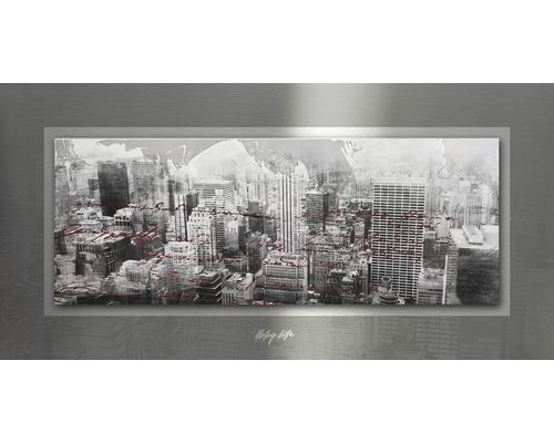 Tableau en métal City Life 50x100 cm