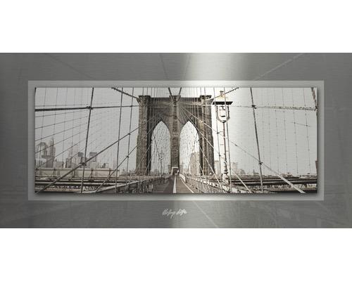 Tableau en métal Simply Bridge 50x100 cm