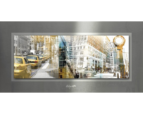 Tableau en métal Waitin In NYC 50x100 cm