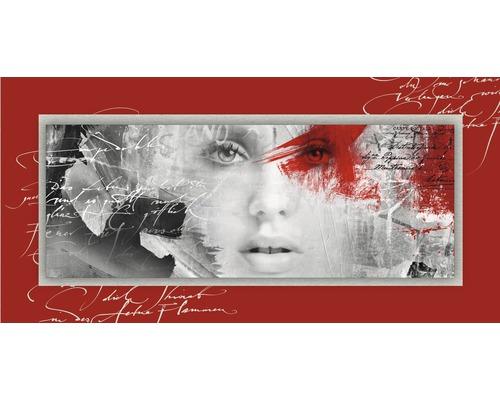Tableau en métal Red Passion I 50x100 cm