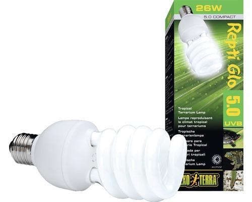 Tube fluorescent compacts pour terrarium Exo Terra Repti Glo 5.0 26 W