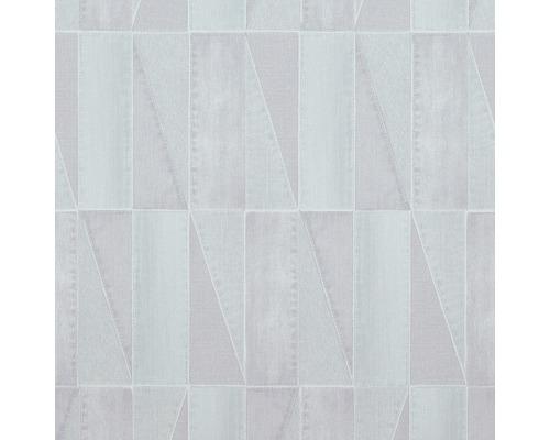 Papier peint intissé Denim 17632 aspect jeans, gris clair-bleu ...