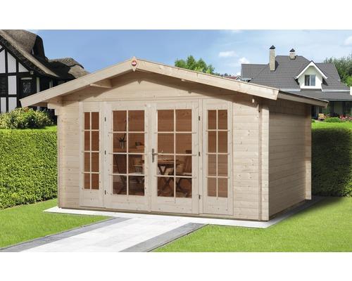 Abri de jardin weka Weekendhaus 137 plancher compris de 380 x 380 cm ...
