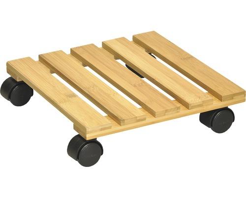 Déplace-plante à roulettes Wagner bambou 29x29 cm TK 100 kg
