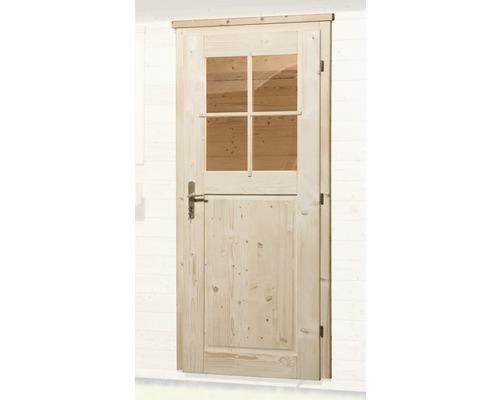 Porte A Un Vantail Weka Pour Abri De Jardin 21 28 Mm 97x203 Cm Naturelle
