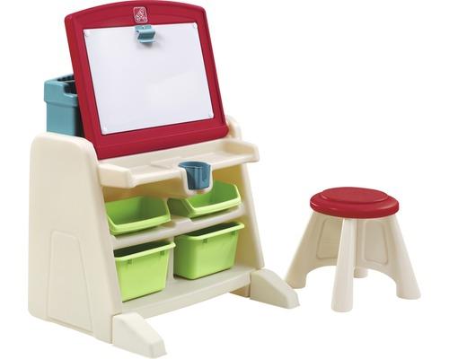 Table de jeu Step2 Flip & Doodle Easel Desk 51x34x71cm avec tabouret