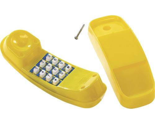 Téléphone axi plastique jaune