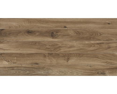 Carrelage pour sol en grès cérame fin Wally Noce 35.5x71 cm aspect bois