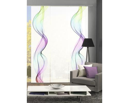 Schiebegardine 3er-Set Alberta multicolor 60x245 cm