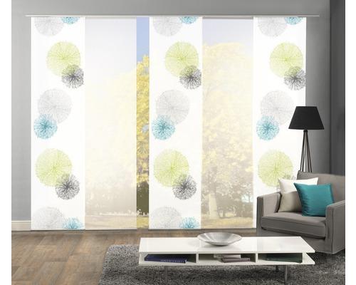 Panneau japonais Home Fashion Scorpio vert 60x245cm lot de 5