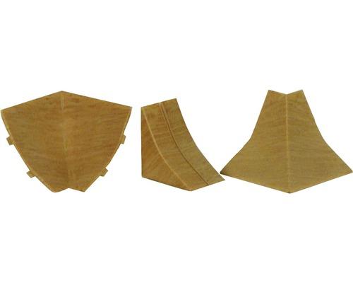 Zubehörset für Wandabschlussprofil 23 buche 4 Stück