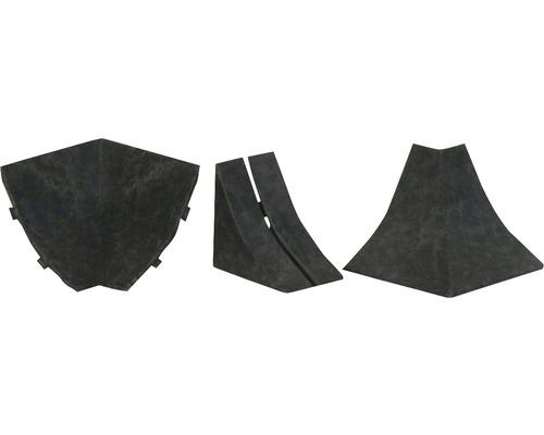 Zubehörset für Wandabschlussprofil 23 oxid 4 Stück