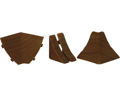 Zubehörset für Wandabschlussprofil 24 buche 4 Stück
