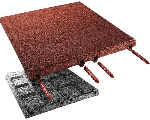 Dalle de protection anti-chute terrasoft 2,5m² 50x50x4,5cm, rouge