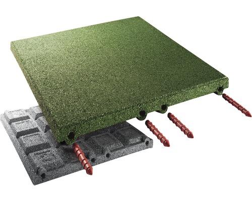 Dalle de protection anti-chute terrasoft 2,5 m² 50x50x4,5 cm vert