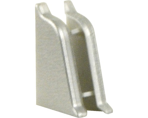 Endstücke PICCANTE für Wandabschlussprofil 37 metall edelstahl gebürstet (re & li)