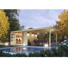 Abri de jardin Karibu Kodiak 6 en kit avec toit en appentis, 525x306b cm naturel-thumb-0