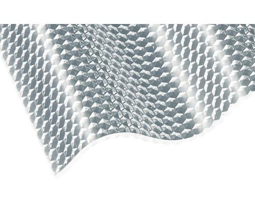 Plaque ondulée acrylique Sinus 76/18 en nid d''abeille transparent 3500x1045x3mm