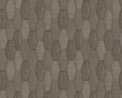 Papier peint intissé 30693-2 Around The World Textile marron ...