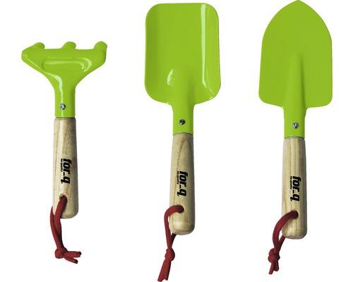 Kit d''outils de jardin pour enfants for_q avec pelle, pelle carrée et râteau