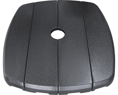 Pied de parasol en plastique de 11kg noir