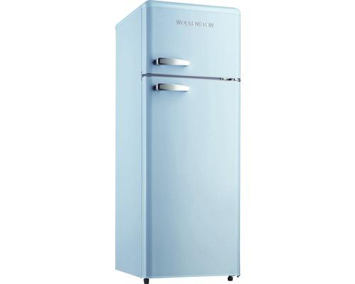 Réfrigérateur-congélateur Wolkenstein GK212.4RT LB bleu lxhxp 54.5 x 145.6 x 62.6 cm compartiment de réfrigération 172 l compartiment de congélation 39 l