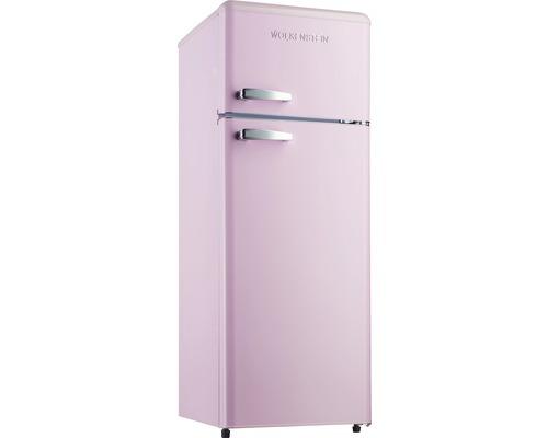 Réfrigérateur-congélateur Wolkenstein GK212.4RT SP rose lxhxp 54.5 x 145.6 x 62.6 cm compartiment de réfrigération 172 l compartiment de congélation 39 l