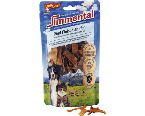 Friandise pour chiens et chats DeliBest Simmental lanières de viande de bœuf 90g