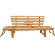 Gartenbank Multifunktion Garden Place Holz Akazie 3-Sitzer braun inkl. Kissen-thumb-3