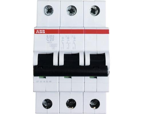 Disjoncteur ABB S203-C20 20A C 3 pôles