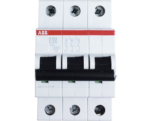Disjoncteur ABB S203-C25 25A C 3 pôles