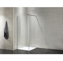 Paroi latérale pour douche à l''italienne basano Modena 800 verre véritable transparent clair aspect chrome-thumb-7