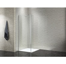 Paroi latérale pour douche à l''italienne basano Modena 800 verre véritable transparent clair aspect chrome-thumb-8