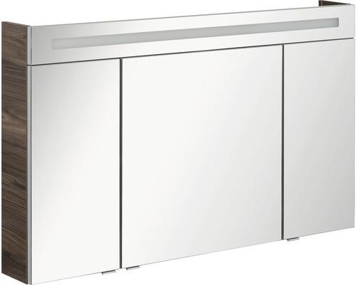 Armoire salle de bains à miroir FACKELMANN B.clever LED 120x71cm Ulme Madera IP 20