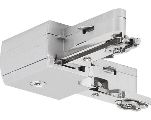 Connecteur en L URail Paulmann chrome/mat 230V