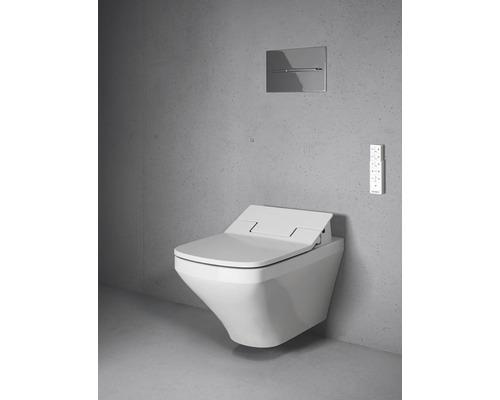 Installation de WC lavant DURAVIT DuraStyle pour Sensowash blanc suspendu au mur 631001002004300 avec abattant WC lavant