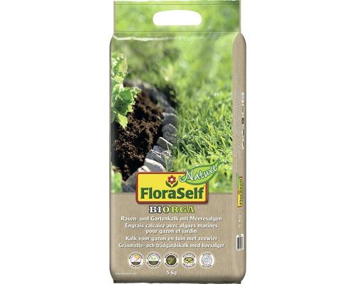 Calcaire pour pelouses et jardins FloraSelf Nature BIORGA 5 kg, avec algues marines