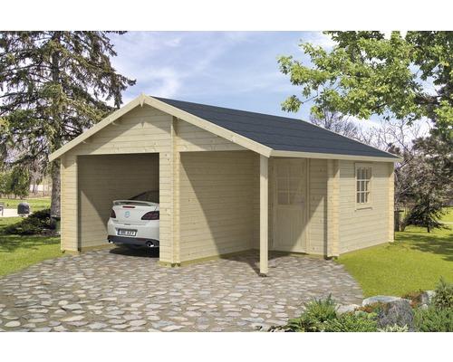 Garage simple Nevis sans porte 500x550cm naturel