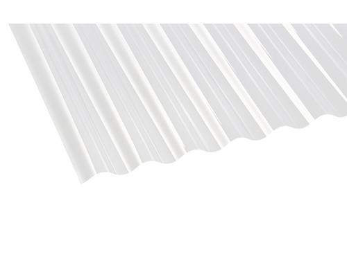 Plaque ondulée en PVC Sinus 76/18 transparent 2.000x920x0.7mm