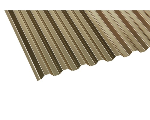 plaque ondul e pvc trap ze 70 18 bronze 2000x1090x0 8 mm hornbach luxembourg. Black Bedroom Furniture Sets. Home Design Ideas