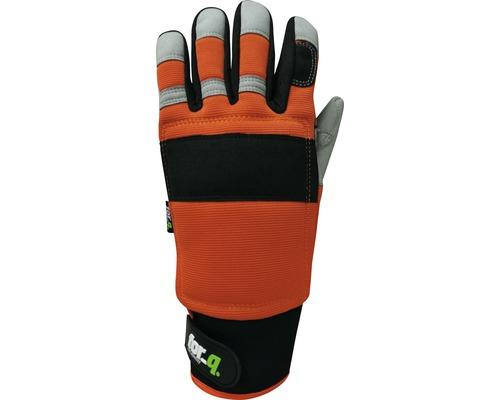 Gants de protection anti-coupure for_q 1 paire Taille M, orange-noir