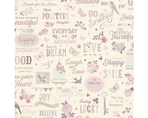 Papier peint 216707 Kids & Teens 2 rêves rose