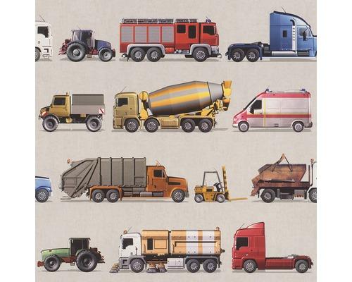 Papier peint 293906 Kids & Teens 2 véhicules multicolores