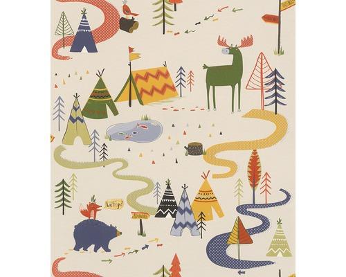 Papier peint 292428 Kids & Teens 2 forêt d''indiens