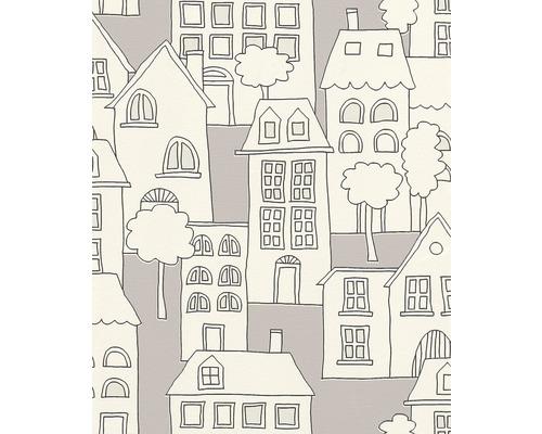 Papier peint intissé 503449 Kids & Teens 2 Ville blanc gris