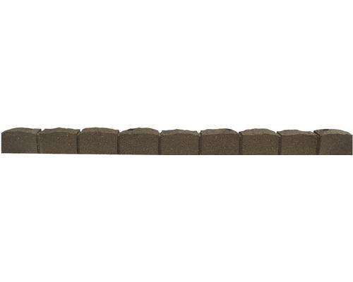 Délimitation de parterre 122x8.25cm flexible pierres romaines